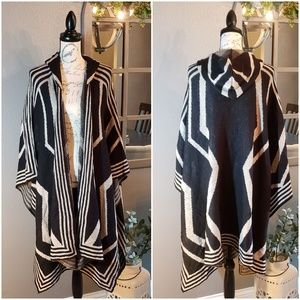 Charlotte Russe Hooded Sweater Pancho Sx L/XL